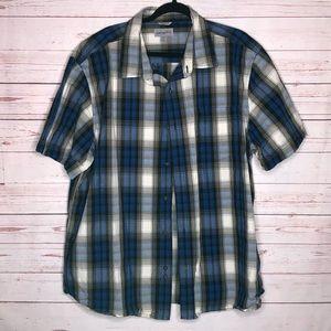 Carhartt Relaxed Fit Blue Plaid Men's 2XL Shirt.
